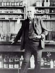 Thomas Edison in Lab