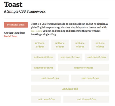 Toast - Simple CSS Grid