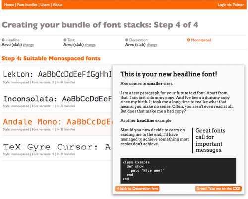 Awesome Font Stacks