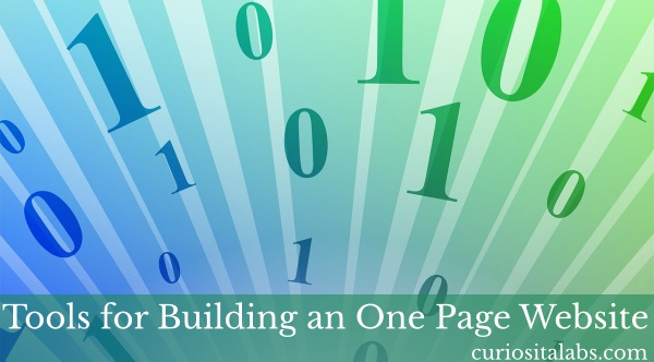 Tools For Building One Page Website