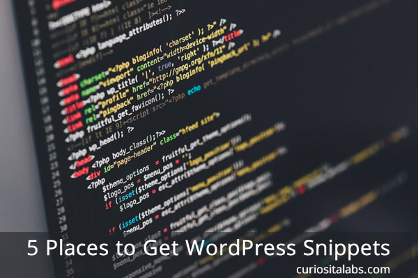 5 Places to Get WordPress Snippets