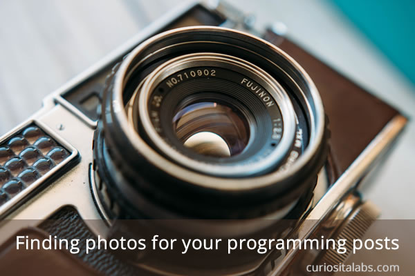 Finding photos for your programming posts