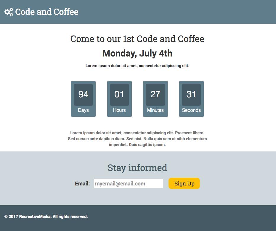 Screenshot Bootstrap Template