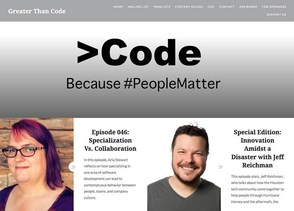 Greater Than Code Podcasts