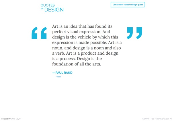 Screenshot of Quotes On Design Website