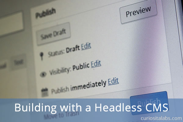 Building With A Headless CMS