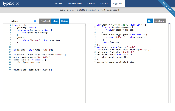 TypeScript Playland Screenshot