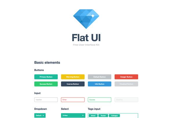 Bootstrap Flat UI Kit