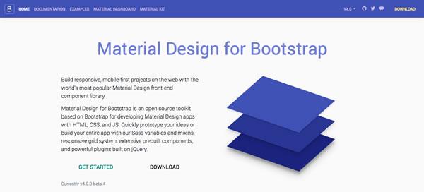 Bootstrap Material Design UI Kit