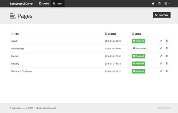 Bootstrap UI Demo