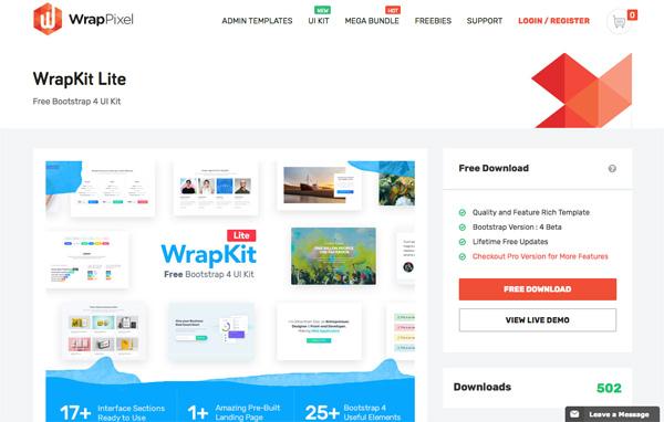 Bootstrap WrapKit Lite