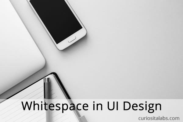 White space in UI Design