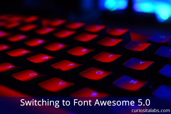 Switching to Font Awesome