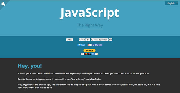 Screenshot of JS The Right Way