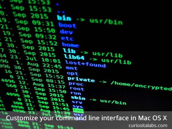 Customize Your Terminal Window in MacOSX