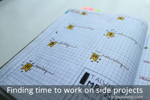 finding time for side projects