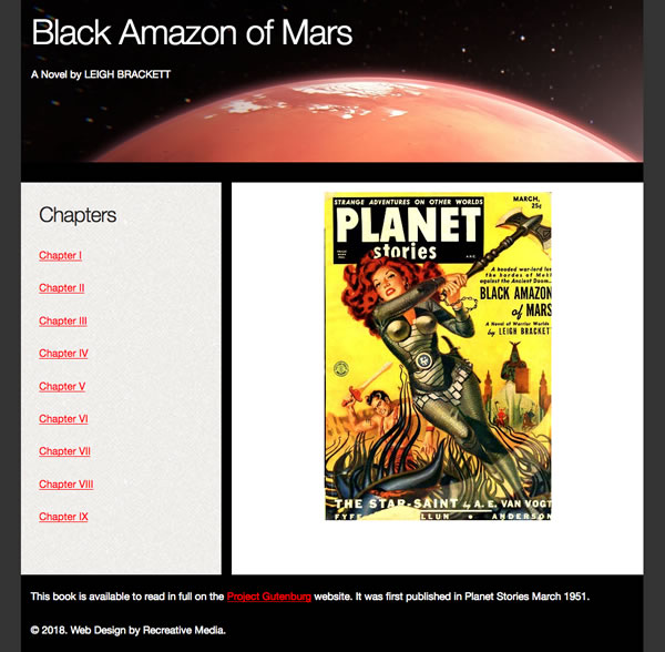 CSS Grid Template with Black Amazon of Mars
