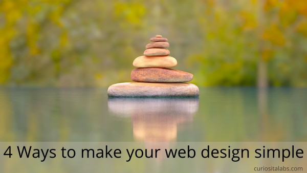4 Ways to make your web design simple